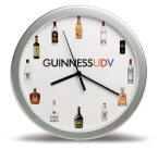 "12"" inch Silver Wall Clock - Your Branding  Banner on their wall"
