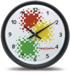 "17"" inch Wall Clock custom printed - Your Sign Branding imprint on their wall"
