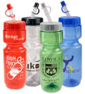 22 OZ. CLEAR & TRANSLUCENT BIKE BOTTLES - SUPER PRICING